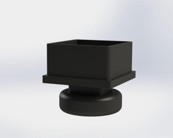 pata regulable pie nivelador para tubo cuadrado.
