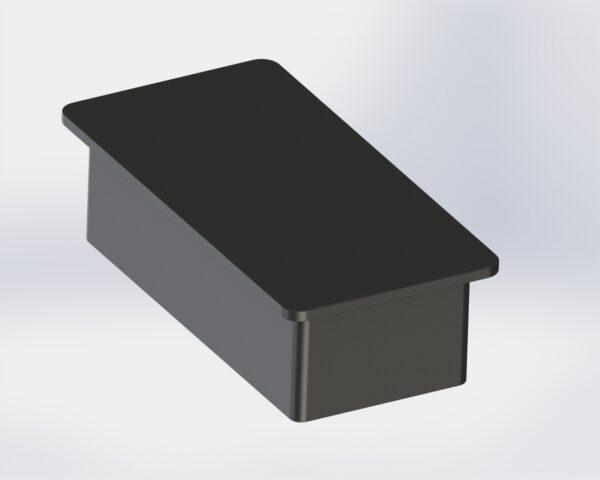 Tapon para tubo rectangular