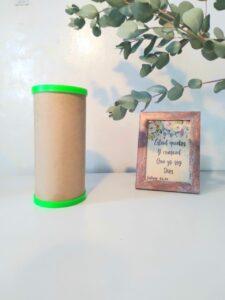 tapa plástica para tubos de cartón
