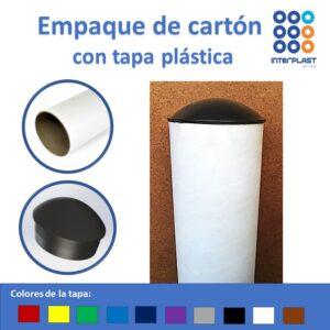 tapones plásticos para tubos de cartón