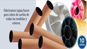 Tacos plásticos para tubos de cartón